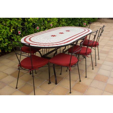 Chollos Muebles de Jardín Sillas exterior + Regalo Mesa de jardín Ovalada en cerámica