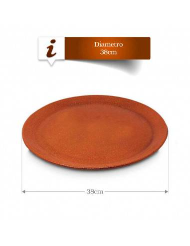 Plato Barro Refractario especial pizza 38 cm