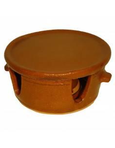 Fundue con plato de barro