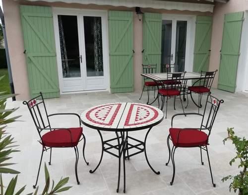 Mesa de jardín 3 en 1 montaje 2 mesas independientes