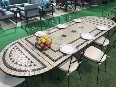 mesa de jardín 3 em 1 montaje con consolas