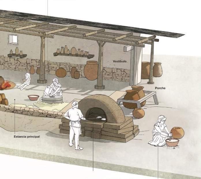 Imagen con dubujo de un alfar de la época romana