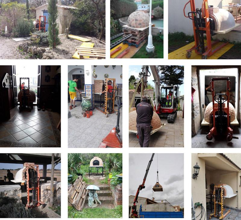 Como se instala un horno de leña en una casa, patio, jardín o terraza