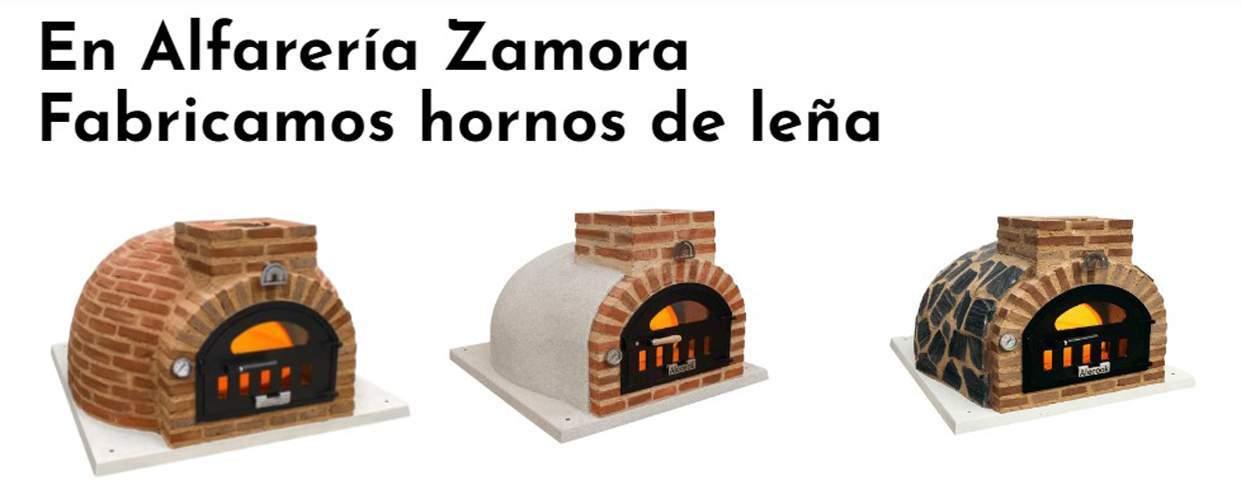 Modelos de hornos de leña de Alfarería Zamora