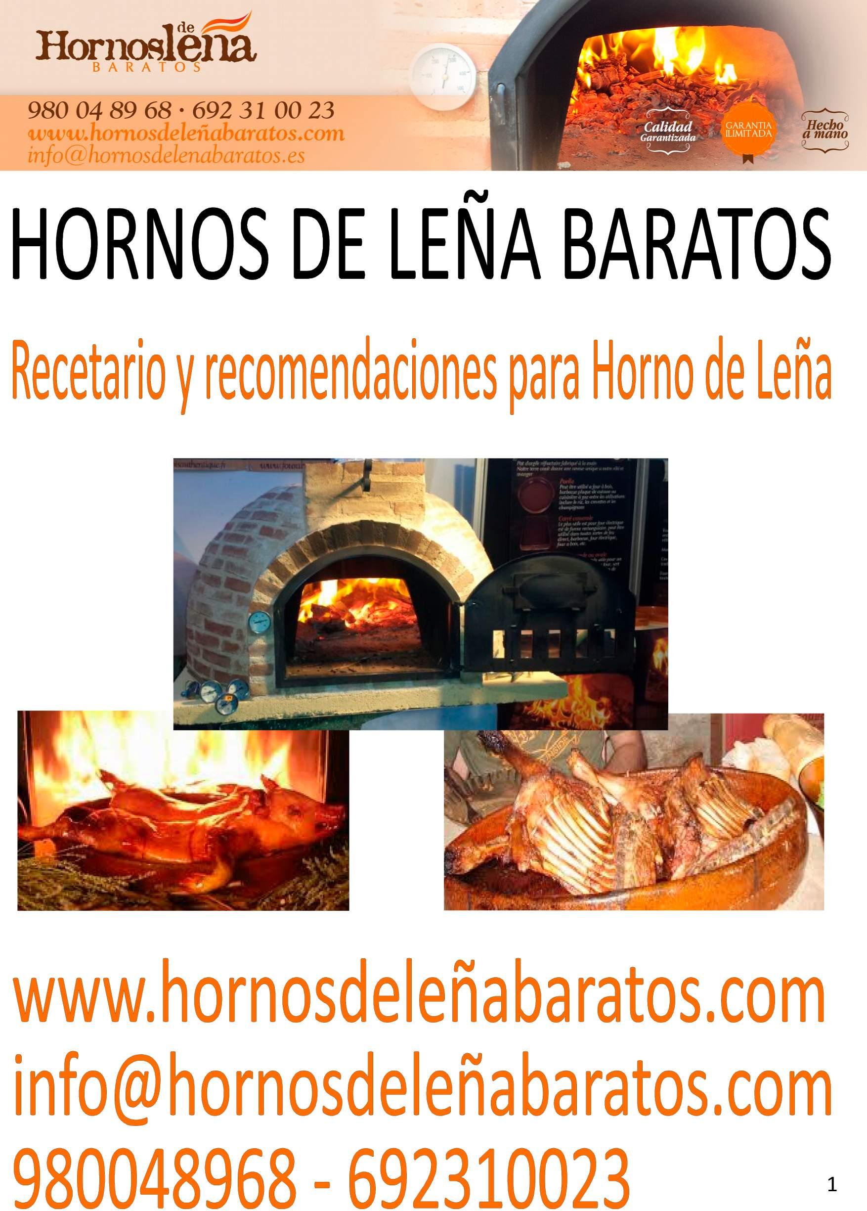 recetario hornos de leña baratos