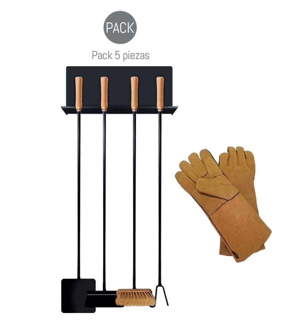Palas y guantes para horno de leña