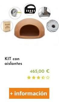 kit con aislantes para fabricar un horno e leña