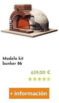kit alecook bunker 86para fabricar un horno e leña