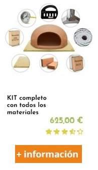 kit completo para fabricar un horno e leña