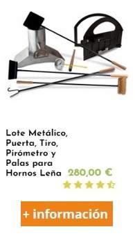 kit para fabricar un horno de leña con puerta tiro y pirometro