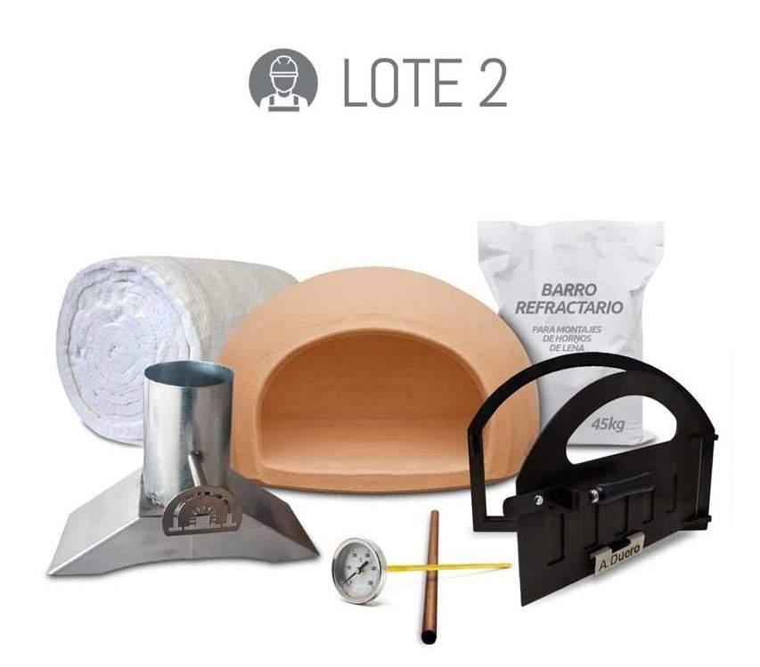 Kit con materiales de aislamiento para fabricar un horno de leña