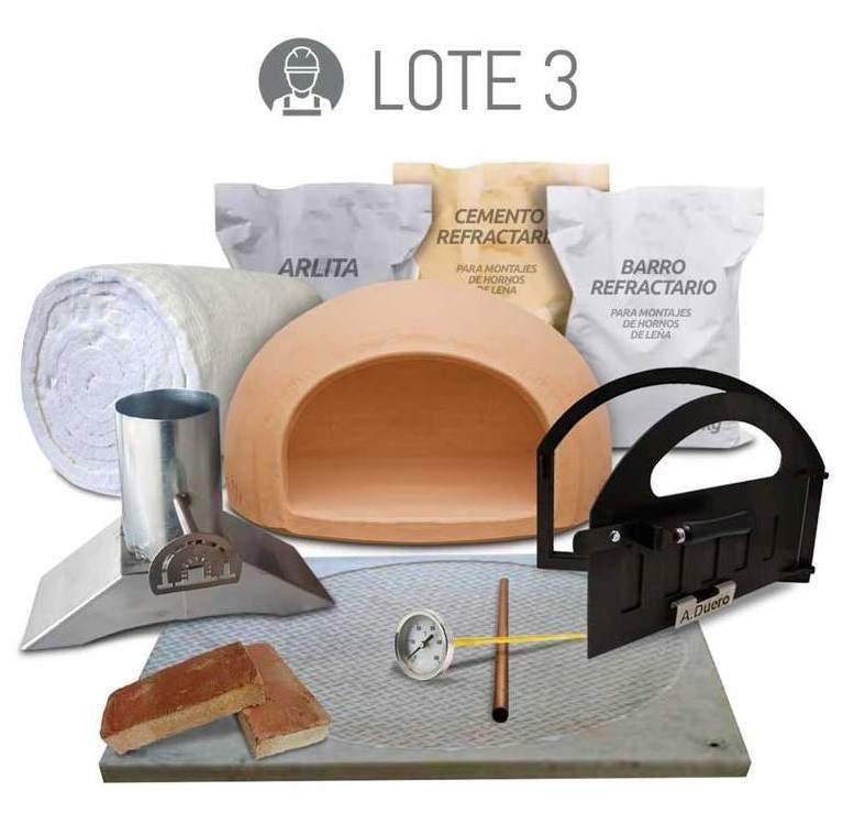 Kit completo para fabricar un horno de leña